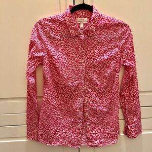 J. Crew Perfect Fit Pink Pattern Button-down Shirt